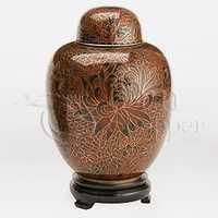 Amber Cloisonn Cremation Urn