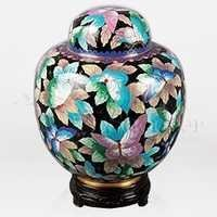 China Butterfly Cloisonné Cremation Urn