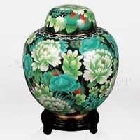 China Multi Color Cloisonn Cremation Urn