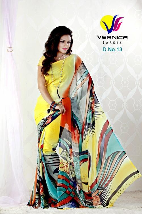 New Style Print Saree