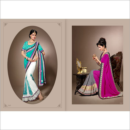 Ladies Crepe Sarees