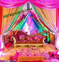 WEDDING DESIGNER COLORFUL STAGE SET