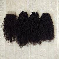 Deep curly hair,