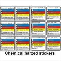 Chemical Hazard Stickers