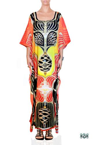 Devarshy Long Embellished Kaftan Dress