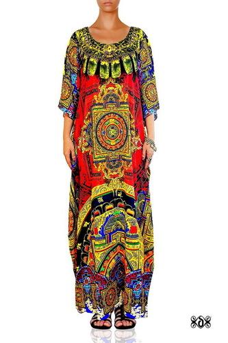 Digital print Embellished Devarshy Luxury Kaftan