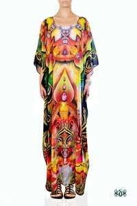 Digital Print Luxurious Long Ladies Kaftan
