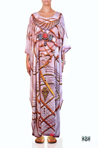 Devarshy Digital print Long Beachwear Kaftan