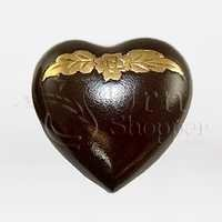 Avalon Mahogany Brass Token Heart Cremation Urn