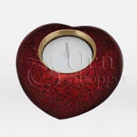 Cardinal Red Heart Votive Candle