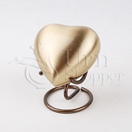 Mother of Pearl Elite brass token cremation urn