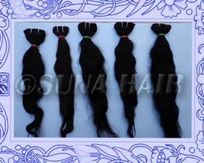 Natural indian charming hot wave body human hair