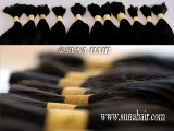 Wonderful quality tangle free no synthetic remy bulk human hair
