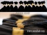Wonderful quality tangle free no synthetic remy bulk human hair
