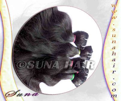 Unprocessed loose body wavy tangle free human hair extension