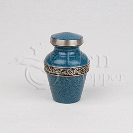 Avalon Series Evening Blue Brass Token Cremation Urn