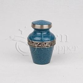Avalon Series Evening Blue Brass Token Cremation Urn
