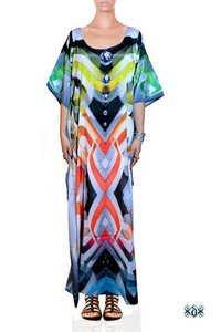 Digital Print Full Length Kaftan Dress