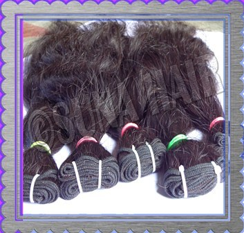 Brazilian natural attractive black color human hair extension