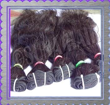 Brazilian natural attractive black color human hair extension