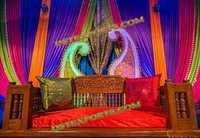 WEDDING COLOURFULL MEHANDI STAGE