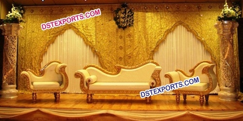 Asian Wedding Stylish Gold Furniture
