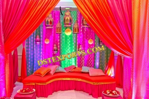 WEDDING MEHANDI NIGHT STAGE SET