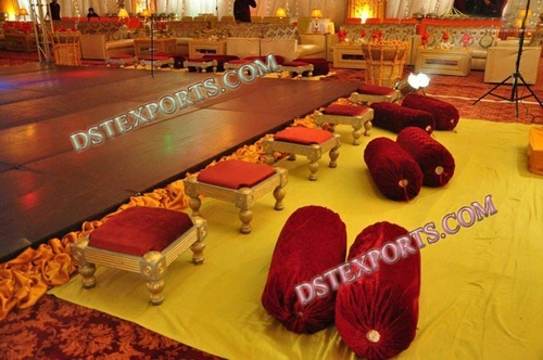 WEDDING MEHANDI STAGE STOOLS