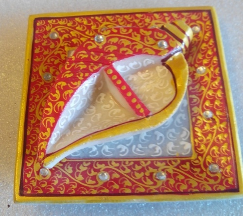 Ganesh Shankh Diya Tray