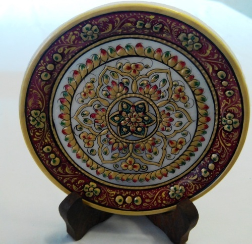 & Decorative Plates with Wood Stand