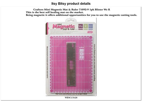 Crafters mini magnetic mat & ruler