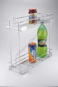 2 Tier Pull Out Bottle Basket