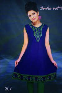 Designer Kurti dark blue