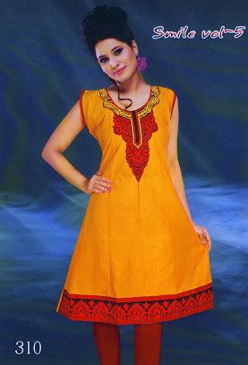 Designer Kurti yellow