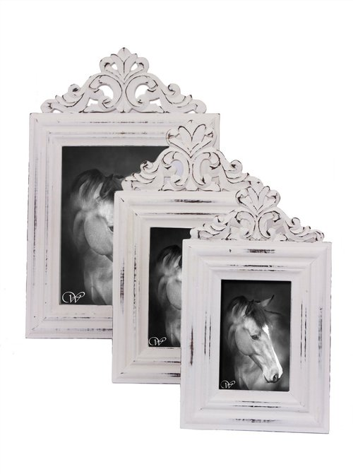 Set Of 3 Photo Frames Hand Carved Wooden In Ornate Design Memorable Gifting Idea