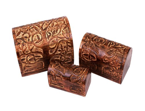Wood Rustic Jewellery Boxes Treasures