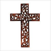 Handcarved Fretwork Wooden Cross Wall Decor Perfect
