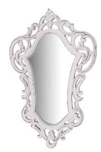 White Shabby Chic Victorian Fairytale Style Inspired Wall Hanging Mirror