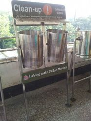 Dual Dustbin With Stand