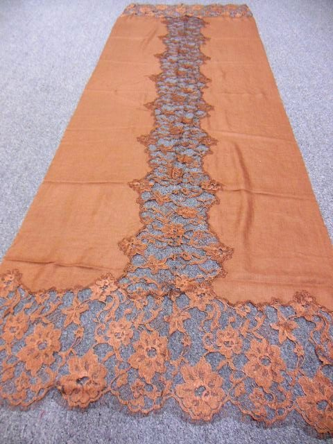 100% CASHMERE FRENCH LACE