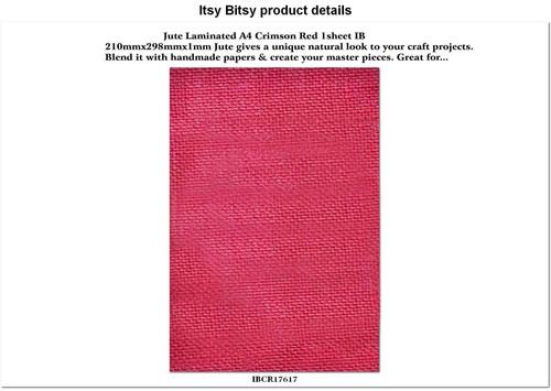 Jute Laminated A4 Crimson Red Sheet