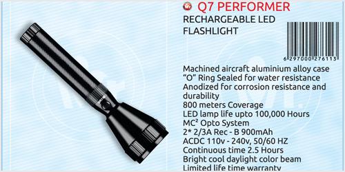 Mr. Light Q7 Performer Rechargeable LED Flash Light