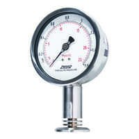 Clamp mounting corrugated diaphragm pressure gauge