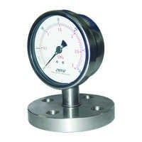 Flange type diaphragm Homognizer pressure gauge