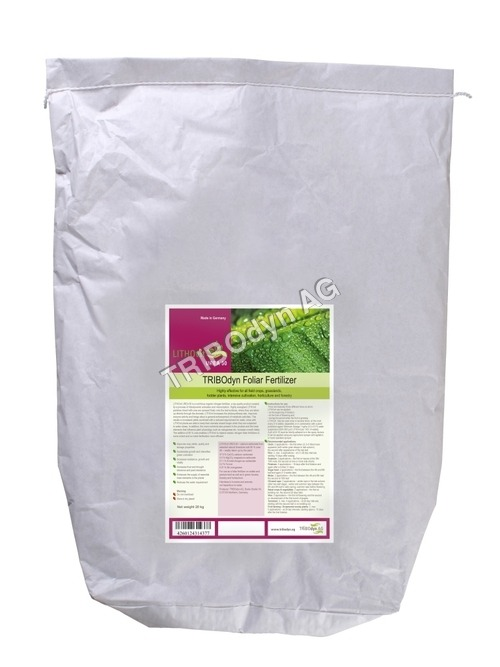 Natural Foliar Fertiizer 20kg Inliner paper bag