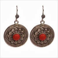 Traditional Round Silver Earrings