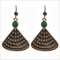 Classy Fan Shaped Oxidized Earrings