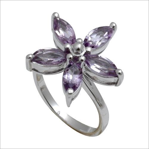 Sterling Silver Flower Design Ring