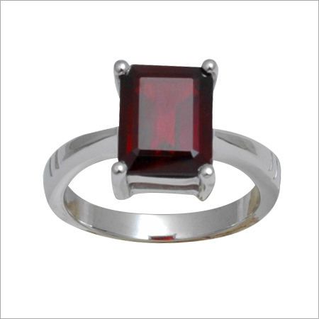 Garnet Single Stone Rings