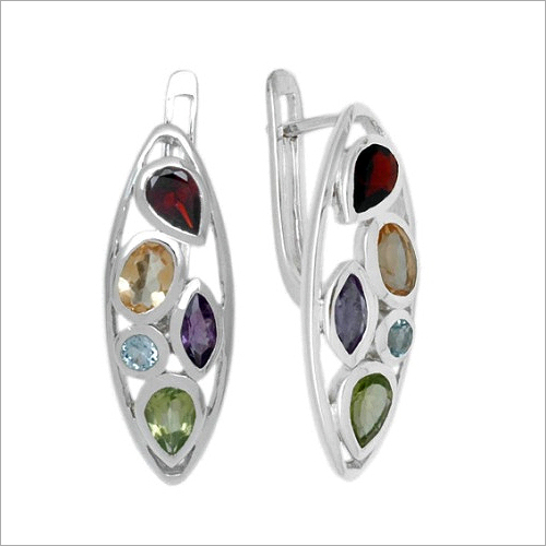 Semi Precious Stone Earrings